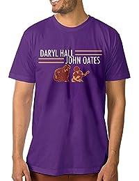 Men's Daryl Hall and John Oates Tour Leisure Jogging Purple T-Shirts Short Sleeve