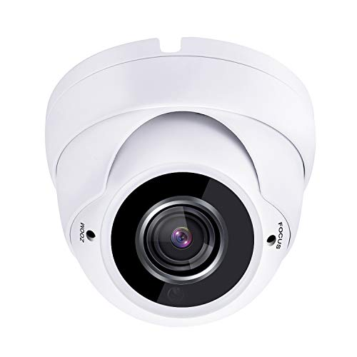 HDView 2.4MP 4-in-1 HD (TVI/AHD/CVI/960H) 1080P Outdoor Sony Sensor 2.8-12mm Vari-Focal Lens Black Film Technology Better IR Night Vision Turbo Platinum Dome Camera White ()