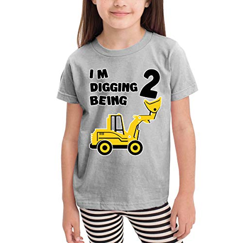 Marcus Roberta 2nd Birthday Bulldozer Construction Party Kids T-Shirt Unisex Classic T-Shirt Gray 3T