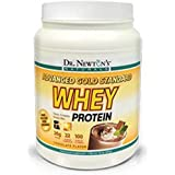 Dr. Newtons Naturals Advanced Gold Standard Whey Protein Powder, Isolate Whey Protein, Excellent Source of Fiber, Meal Replacement Shakes, Creamy Chocolate 24oz