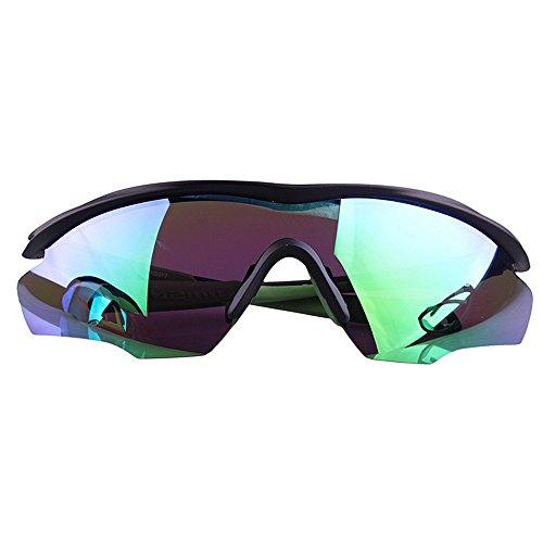 Deportivo Arena Gafas de Polarizadas LBY Espejo Viento Gafas para Color Sol Green Gafas Bicicleta Y Gray De Hombre Pvqgzv1