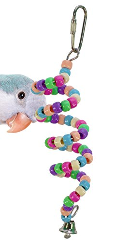 Bonka Bird Toys 869 Millet Holder Bird Toy Pastel Parrot cage Craft Toys Cages Cockatiel Parakeet. Quality Product Hand Made in The USA. - Millet Spray Holder