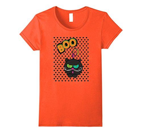 Homemade Halloween Cat Costumes Women (Womens Cute Cat Boo! Family Kitty Halloween Costume T-shirt XL Orange)