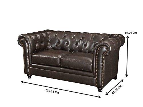 Coaster Home Furnishings Loveseat, Black/Dark Brown