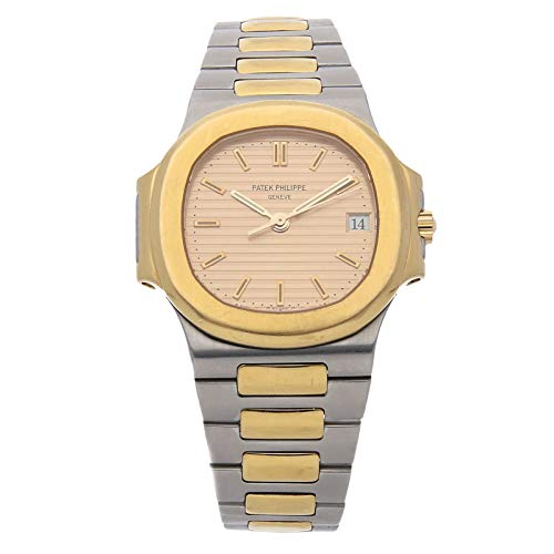 Patek Philippe Gold Dial - Patek Philippe Nautilus Mechanical (Automatic) Gold Dial Mens Watch 3800/001 (Certified Pre-Owned)