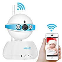 Zclever Wifi Baby Monitor,720P wireless Security Camera System,for Baby/Elder/Pet,Two Way Audio & Night Vision with Motion Detection