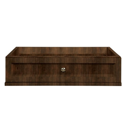 DECOLAV 5236-MMG Jordan 25.5-Inch Modular Single Drawer Console, Mahogany