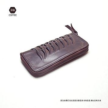 Diseño original, la primera capa de cuero, monedero ...