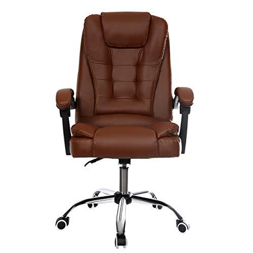 KIU Erbjuder kontorsstol dator chef stol ergonomisk stol med fotstöd, vit inget fotstöd Black With Footrest