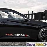 Hyundai + Blendstreifen Keil 130cm Aufkleber,Sticker von