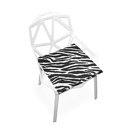 TSWEETHOME Comfort Memory Foam Square Chair Cushion Seat Cushion with Animal Skins Zebra Print Chair Pads for Floors Dining Office Chairs by TSWEETHOME