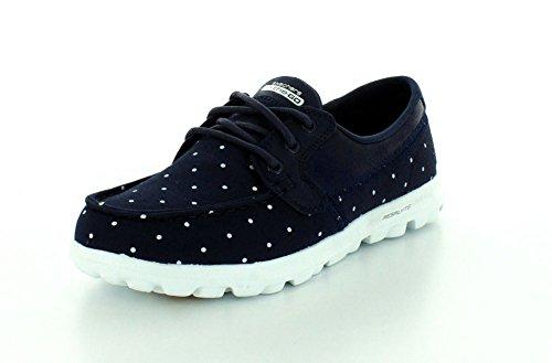Skechers en el zapato Vaya manchado Barco marino/blanco