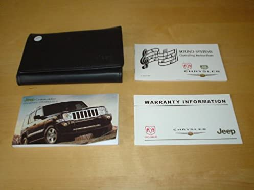 jeep commander xk owners manual handbook with wallet 2006 2010 rh amazon co uk 2016 Jeep Commander 2010 jeep commander service manual