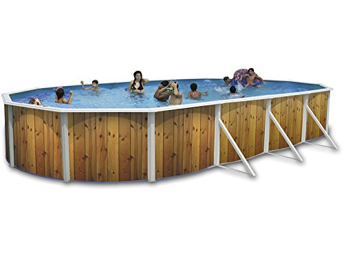 TOI Luna Oval Above Ground Swimming Pool 915 x 457 x 120 cm Hard Sides...