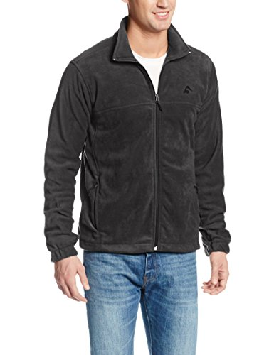Kanu Surf Men's Canyon Fleece Jacket, Charcoal, XX-Large