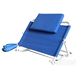 Adjustable Sit up Back Rest. Bed Back Support with Slip Free Seat Fabric