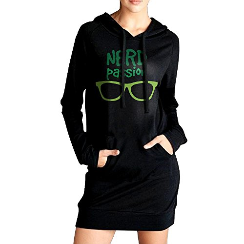 RZWD06 Nerd Passion Funny Nerd Glasses Women's Sweatshirt,Long Sleeve Hoodie For (Funny Halloween Wallpaper Hd)