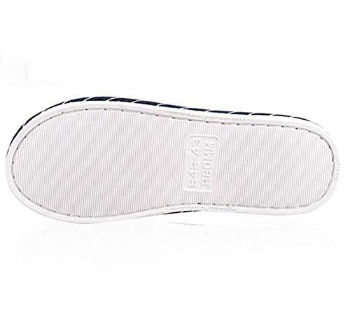 Antidérapant Respirante Confortable 44 42 280 Gris Taille Bleu Pantoufles D'hiver 290 De 43 Ménage 45 Coton coloré D'intérieur Oudan Pantoufle aWYzq0wPW
