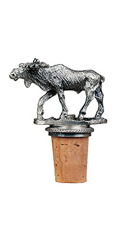 Epic Products Moose Bottle Stopper, Pewter