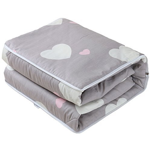 HOMEE Cotton Fabric Pillow Quilt Automobile Use Cushions Are Sofa Office Lunch Break Fold Quilt ,4040, Nga Love,Encourage Love,4040