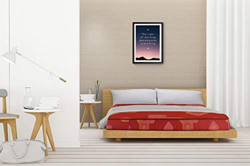 SleepSpa Soft Bounce Premium Orthopaedic 4 #34; Queen Size  Hd  Foam Mattress  Maroon,78X60X4