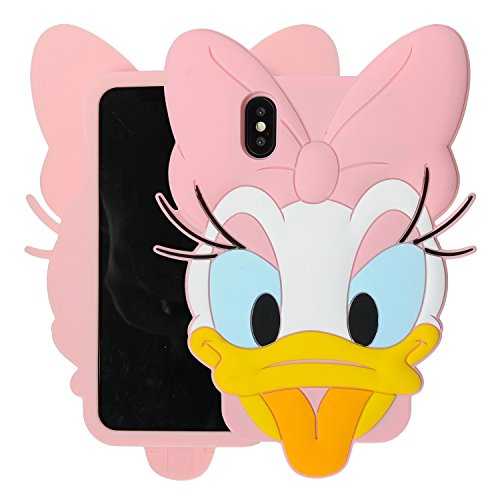 Case for iPhone X XS, Phenix-Color 3D Cute Cartoon Soft Silicone Hello Kitty Gel Back Cover Case for iPhone X XS Amp Prime (No.07) ()