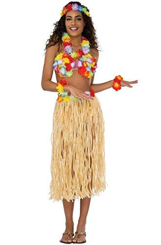 Mememall Fashion Tropical Island Hawaiian Luau Hula Costume Kit Costume Accessory (Sexy Hula Costume)