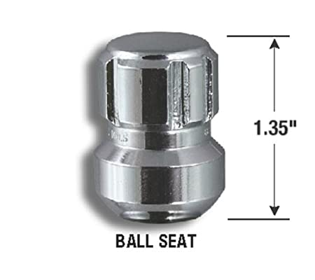 Gorilla Automotive 38641N Chrome Honda//Acura Ball Seat Wheel Locks 14mm x 1.50 Thread Size