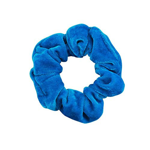 Lovely Polka Dot Design Hair Scrunchies Ponytail Holder Hair Ties Gum Hair Bands (Color - #56 sky blue)