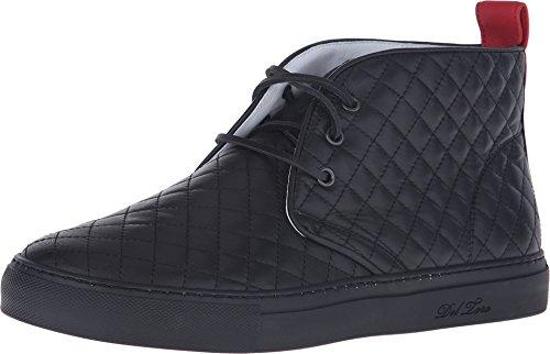 Del Toro Heren Gewatteerde Lederen Chukka Sneaker Zwart