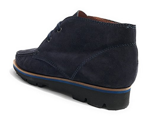 Elite Scarpe Uomo Polacchino in Pelle Scamosciata Colore Blu Notte U18EL02