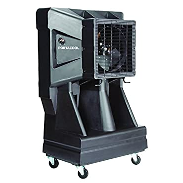 Portacool PAC163SVT 16 Portable Evaporative Cooler with Vertical Tank, 3900 CFM, 900 Square Foot Cooling Capacity, Black