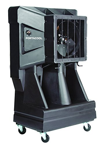 Portacool PAC163SVT 16-Inch Portable Evaporative Cooler with Vertical Tank, 3900 CFM, 900 Square Foot Cooling Capacity, Black by Portacool