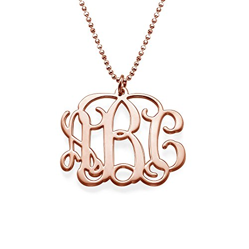 18k Gold Plated Initial Monogram Necklace - Custom Made with Any Name! - Emily And Ashley Initials Necklace