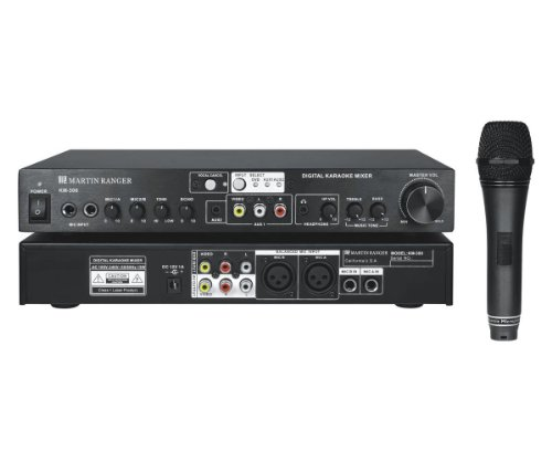 Martin Karaoke (Martin Ranger KM300 Digital Karaoke Mixer with 1 Wired Microphone)