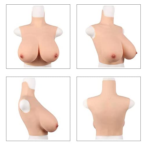 Realistic Breast Forms Artificial Big E G Cup Silicone Boobs High Collar Crossdressing Apparel for Crossdresser