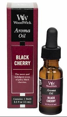 Black Cherry Scent Oil - WoodWick Aroma Fragrance Oils for Ultrasonic Diffusers, Black Cherry