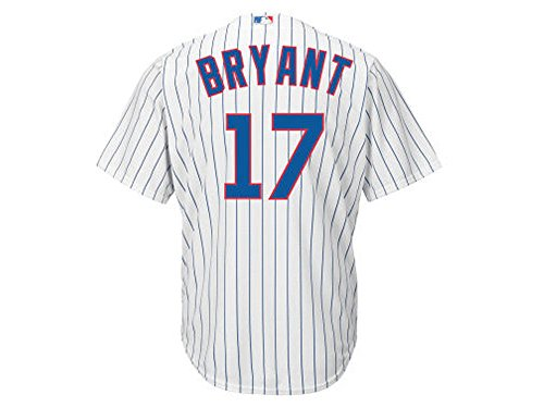 Kris Bryant Chicago Cubs White MLB Youth Cool Base Replica Home Jersey (Youth Small (8 Home Replica Jersey)