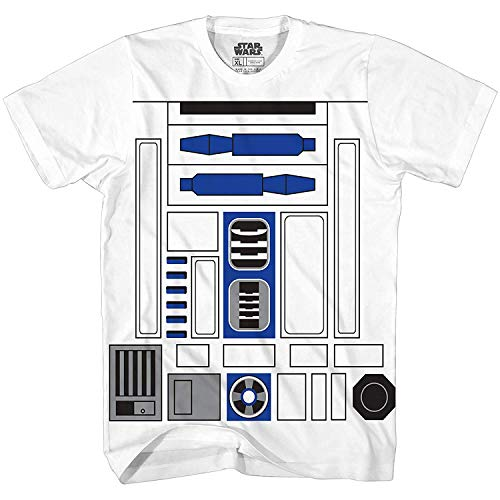 Mighty Fine I AM R2D2 MENS COSTUME TEE White S -