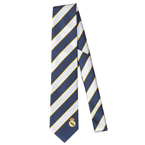 Real Madrid Stripe Tie - Blue/ White