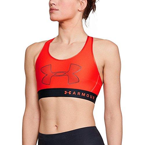 Under Armour Women's Armour Mid Graphic, Radio Red (890)/Radio Red, Medium (Under Armour Heatgear Sports Bra High Impact)
