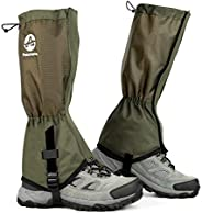Pasanava Leg Gaiters Waterproof and Adjustable Walking Snow Gaiters with TPU Foot Strap for Hiking,Hunting,Bac