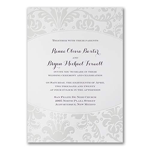 (325pk Pearlized Filigree Border - Invitation-Wedding Invitations)