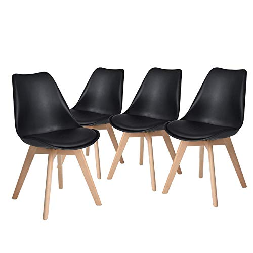 Used, HOMYCASA Eames Inspired Modern Upholstered Dining Chairs for sale  Delivered anywhere in Canada