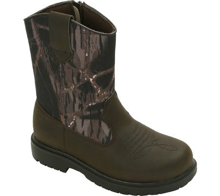 [Deer Stags Tour Pull-On Boot (Little Kid/Big Kid),Camouflage/Brown,2 M US Little Kid] (Boots For Boys)