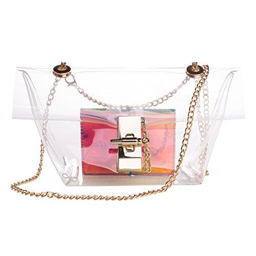 Zarapack, Borsa a spalla donna Trasparente transparente Trasparente (Transparente - Style 4)