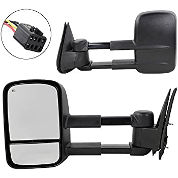 Tow Mirrors For 1999 2000 2001 2002 Chevrolet Chevy GMC Silverado Sierra 1500 2500 3500 Tahoe Yukon Pickup Power Heated Towing Mirrors Pair Manual