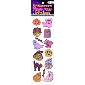 12 Halloween Glitter Pumpkin Sticker Sheets
