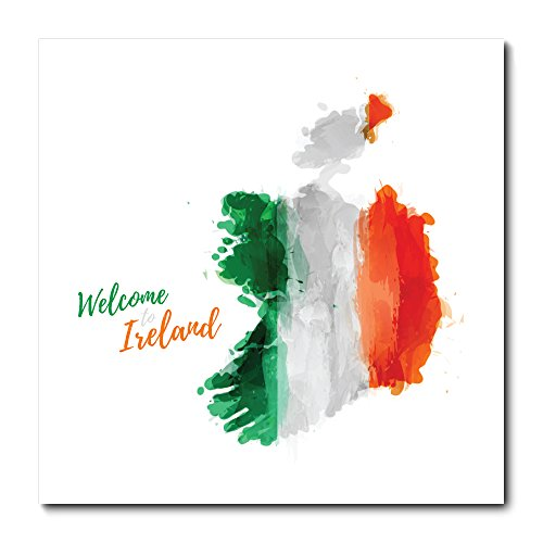 Placa Decorativa - Bandeira Irlanda - 1629plmk
