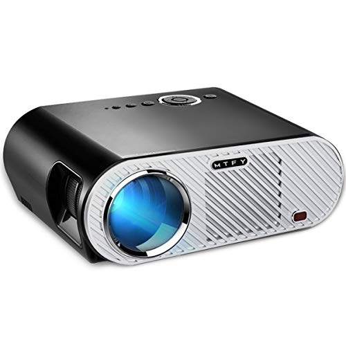 MTFY Projector-30000 Hours Portable LED HD 1080P Video Projector-Home Theater Projector Office Projector Support HDMI USB SD VGA AV for PC/Laptop/DVD/TV/Video/Photo/Game/Movie